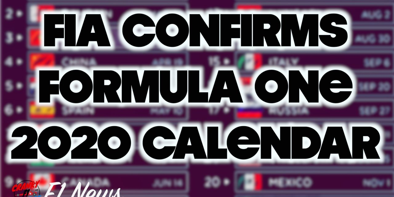 F1 2020 Schedule Breaks Records Not Hearts [INFOGRAPHIC]