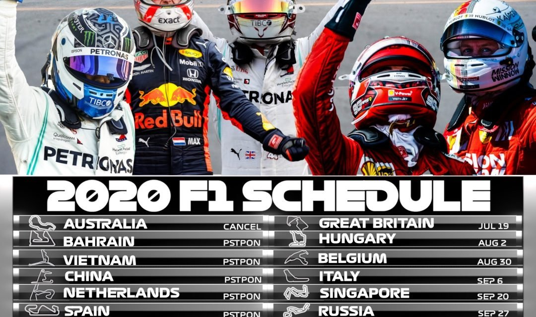 2020 F1 Schedule: Printable & Download Ready